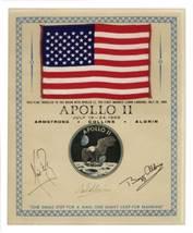 Lot Detail - Exceptionally Scarce Apollo 11 Flag Flown to ...